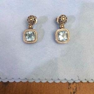 JOHN HARDY Topaz & Diamond Batu Sari Drop Earrings